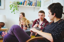 teens in discussion at a Bible study