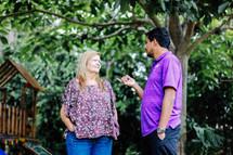 missionaries talking in Costa Rica
