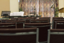 rows of chairs in a church