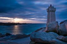 lighthouse on a rocky