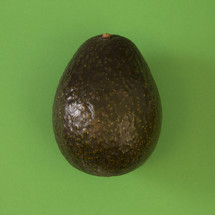 avocado on green