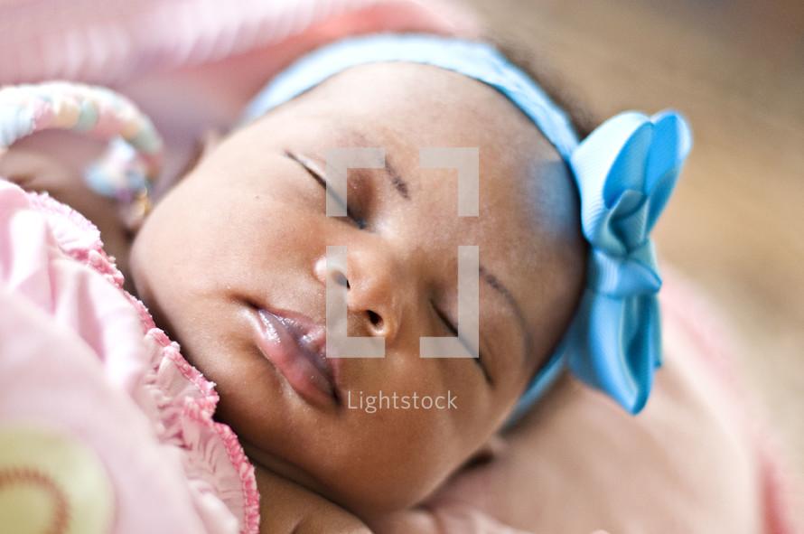 sleeping infant girl