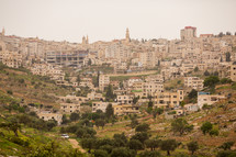 Bethlehem - buildings on a hillside in Israel