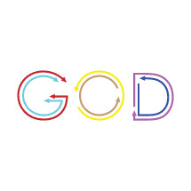 word God made with  colorful arrows pointing in different directions