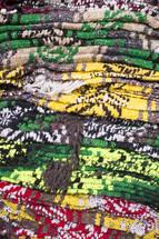 Woven Blankets in a Mexico Souvenir Shop