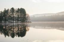 morning fog over a lake