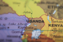 Uganda and Kenya map