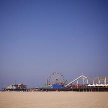 a carnival on a beach