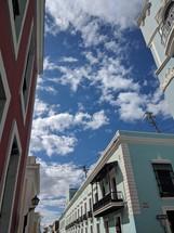 colorful buildings under a blue sky