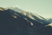 Sunshine on a mountainside.