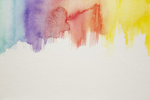 blue, purple, red, orange, yellow, border, watercolor, background, painting