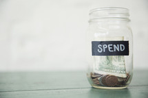 Spend money jar