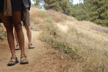 feet on a path