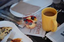 table set for breakfast