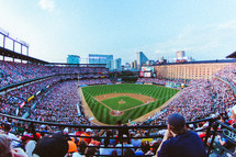 crowd at baseball stadium, Oriole Park at Camden Yards