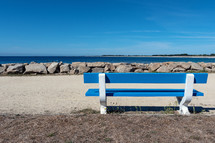 bench by a shore
