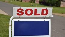 Sold sign for real estate