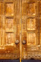 ornate engraved doors