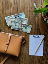 budgeted cash in money clips
