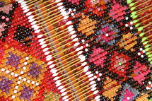 Detail on a traditional beaded garment
