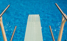 diving board over a pool
