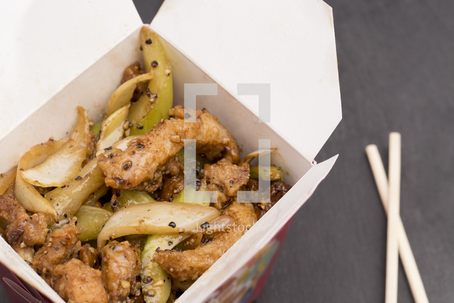 Black Pepper Chicken Chinese Food