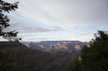 view of a canyon landscape