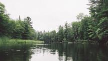 rain drops on a pond