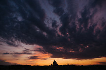 St Peter's Basilica silhouette