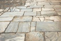 floor in ruins in Ephesus Turkey