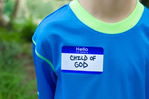 child of God name tag