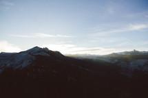 sunlight on mountains