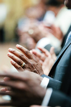 hands at a worship service