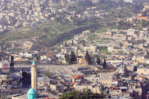 a shot of one side of Jerusalem from on top of a hill