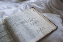 notes in an open Bible
