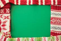 knit Christmas stockings frame