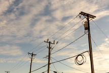 power lines and power poles