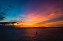 sailing at Fort Picolet at sunset
