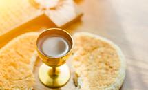 communion bread and wine