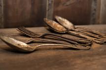 rusty utensils