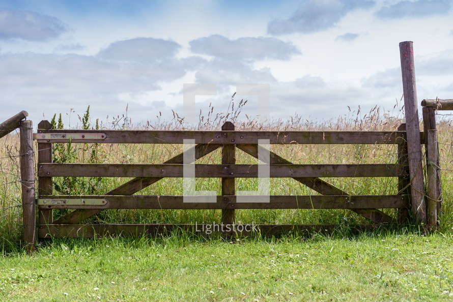 gate on farmland