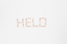 Hello in paperclips