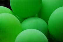 neon green balls