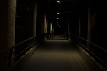 Corridor at night.