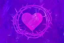 crown of thorns and purple heart