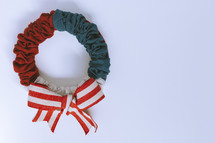 Memorial day themed wreath