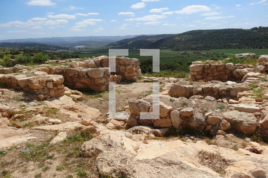 Gate at Shaaraim, overlooking valley where David fought Goliath