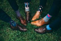 crazy dress socks on groomsmen