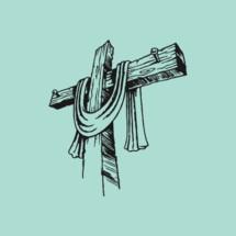 hand drawn cross and shroud