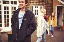 teens walking around outdoors
